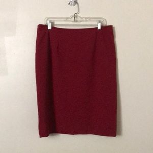 Calvin Klein Deep red Straight Pencil Skirt
